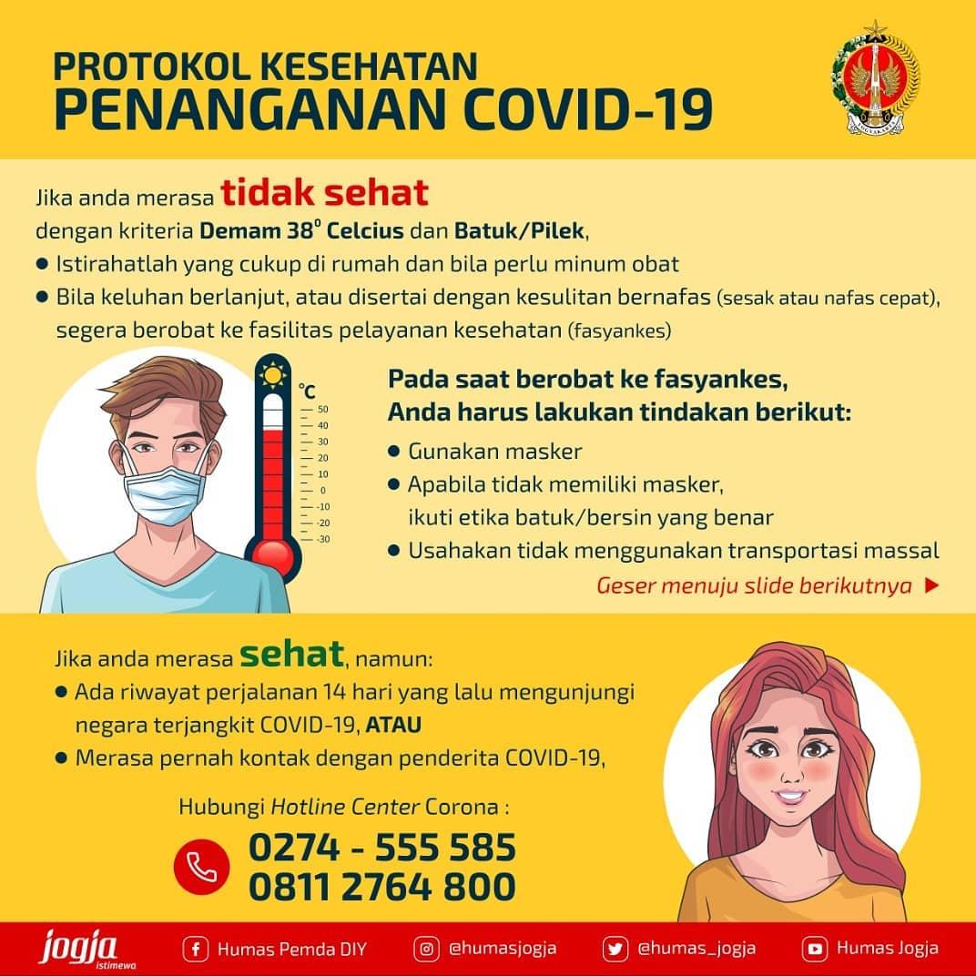 Jam pendaftaran dan pelayanan UPT Puskesmas Ngampilan pada saat pandemi covid-19